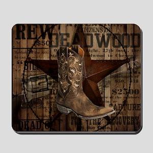 western cowboy Mousepad