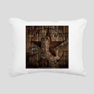 western cowboy Rectangular Canvas Pillow