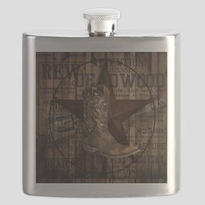 western cowboy Flask