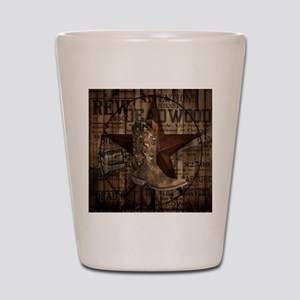 western cowboy Shot Glass