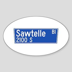 Sawtelle Blvd., Los Angeles - USA Oval Sticker
