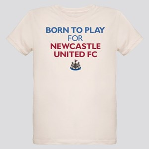 Born To Play For Newcastle Un Organic Kids T-Shirt