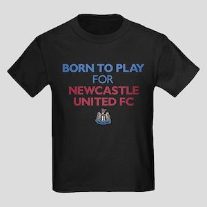 Born To Play For Newcastle Unite Kids Dark T-Shirt