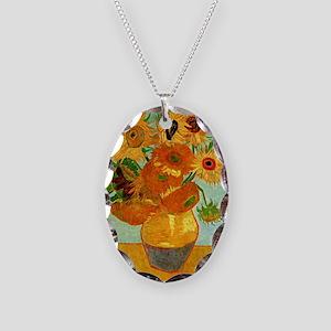 Van Gogh - Still Life Vase wit Necklace Oval Charm
