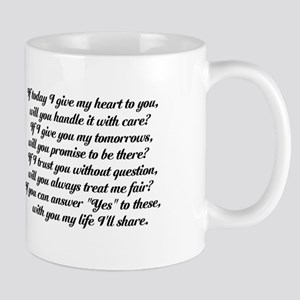 Love Pledge Poem Mug