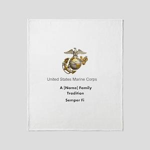 USMC Family Tradition Throw Blanket