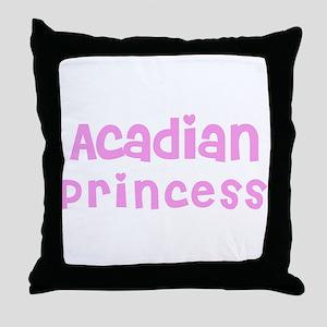 Acadian Princess Throw Pillow