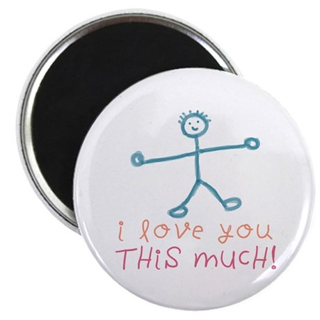 "I Love You This Much 2.25"" Magnet (100 pack)"
