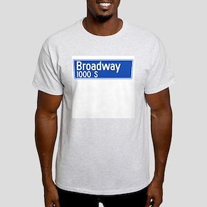 Broadway, Los Angeles - USA Ash Grey T-Shirt