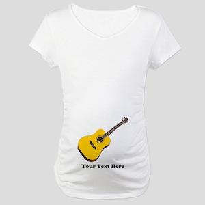 Guitar Personalized Maternity T-Shirt