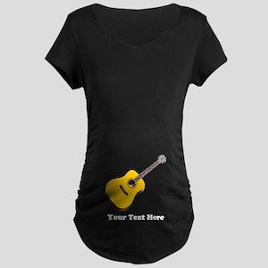 Guitar Personalized Maternity Dark T-Shirt