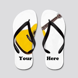 Guitar Personalized Flip Flops