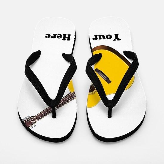 Guitar Personalized Flip Flops