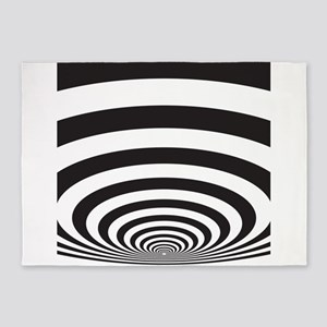 Optical Illusion 5'x7'Area Rug