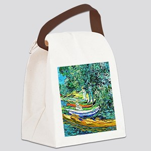 Van Gogh - Rowing Boats on the Ba Canvas Lunch Bag