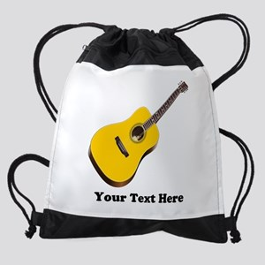 Guitar Personalized Drawstring Bag