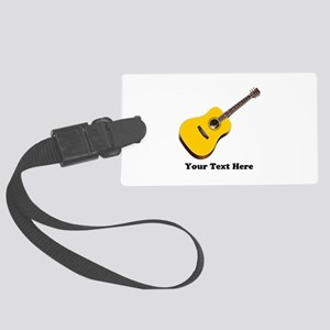 Guitar Personalized Large Luggage Tag