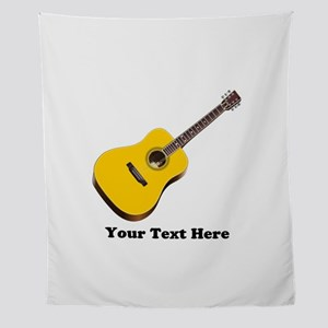 Guitar Personalized Wall Tapestry