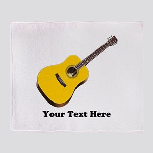 Guitar Personalized Throw Blanket