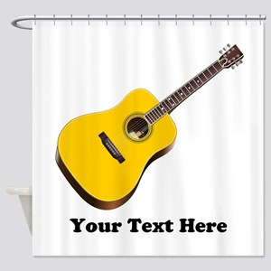 Guitar Personalized Shower Curtain