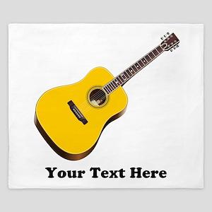 Guitar Personalized King Duvet