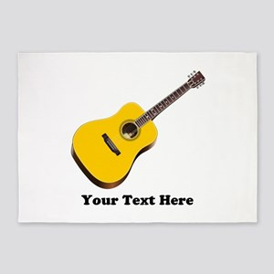 Guitar Personalized 5'x7'Area Rug