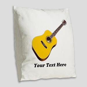 Guitar Personalized Burlap Throw Pillow