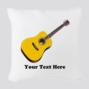 Guitar Personalized Woven Throw Pillow
