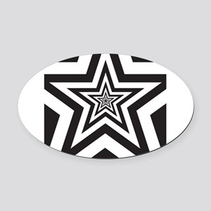 Stars Oval Car Magnet