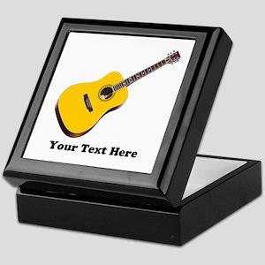 Guitar Personalized Keepsake Box
