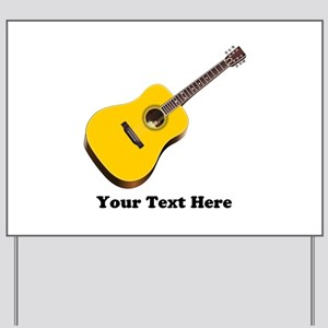 Guitar Personalized Yard Sign
