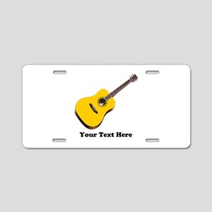 Guitar Personalized Aluminum License Plate