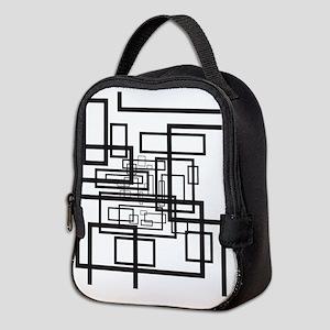 Modern Rectangles Neoprene Lunch Bag