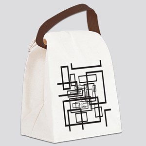 Modern Rectangles Canvas Lunch Bag