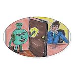 Opportunity Knocks Oval Sticker