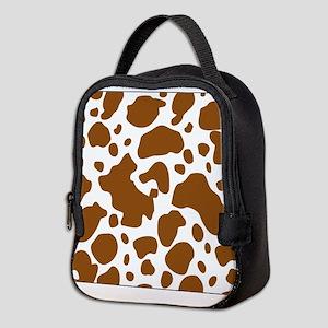 Brown Spot Pattern Neoprene Lunch Bag