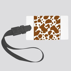 Brown Spot Pattern Luggage Tag