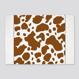 Brown Spot Pattern 5'x7'Area Rug