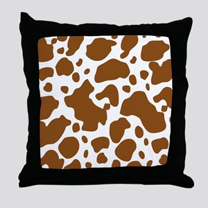 Brown Spot Pattern Throw Pillow