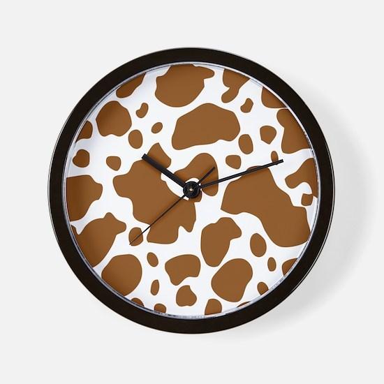 Brown Spot Pattern Wall Clock