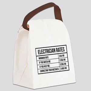 Electrician Rates Canvas Lunch Bag