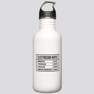 Electrician Rates Stainless Water Bottle 1.0L