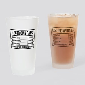 Electrician Rates Drinking Glass