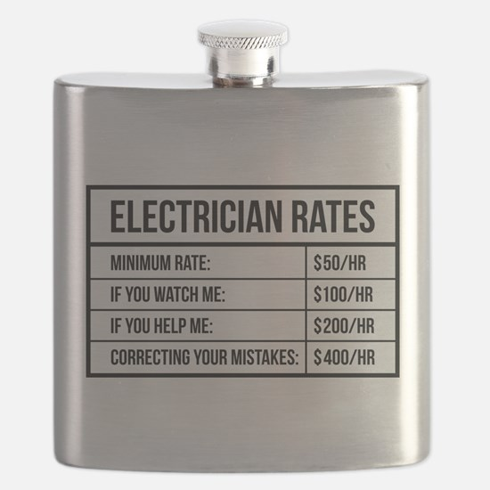 Electrician Rates Flask