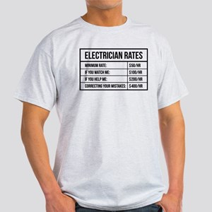 Electrician Rates Light T-Shirt