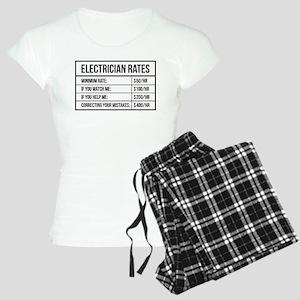 Electrician Rates Women's Light Pajamas