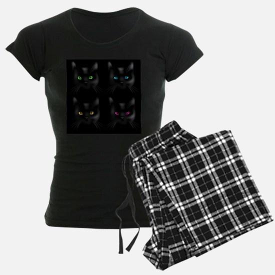 Black Cat Pattern Pajamas