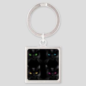 Black Cat Pattern Keychains