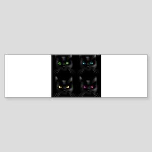 Black Cat Pattern Bumper Sticker