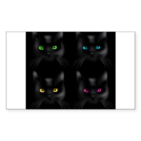 Black Cat Pattern Sticker